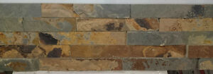 Multicolor stone wall panel for $6.00/sf (6040 50 Street)