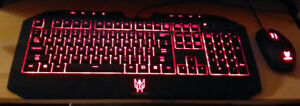 Genuine Acer Predator Keyboard & Mouse - Used