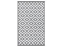 RRP £92 Brand New Nirvana large Indoor Outdoor Plastic Rug in Grey and White 150cm x 240cm (5 x 8')