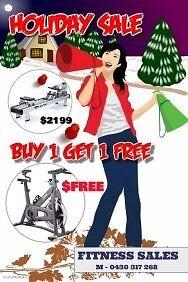 WaterRower M1-Hi Rise plus Bonus FREE Sprinter Z-11 Spinning Bike Rockingham Rockingham Area Preview