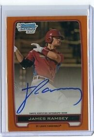 JAMES RAMSEY RC AUTO 2012 BOWMAN DRAFT CHROME PROSPECT ORANGE REFRACTORS 5/25 JR