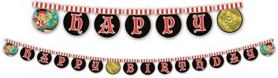Boys Birthday Party Jake & The Neverland Pirates 'Happy Birthday' Letters Banner ()