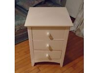 Julian Bowen Cameo 3-Drawer Bedside Table For Sale