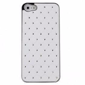 Deluxe iPhone 5 Hard Case W. Bling Stones White