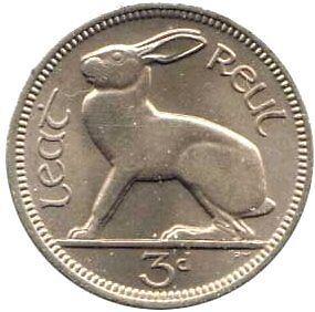 Click on Image to view a range of Irish Threepence