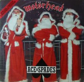 """Very cool, very rare. Christmas Ltd edition MOTÖRHEAD - ACE OF SPADES 12"""" great condition £20"""