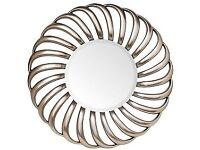 NEW & EXCELLENT CONDITION - RV Astley Contemporary Nickel Swirl Mirror