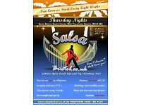 FREE SALSA DANCING CLASS THURSDAY 19TH OCTOBER 7.30PM