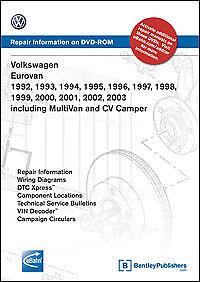 eurovan shop manual service repair volkswagen dvd workshop book guide vw  92-03