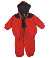 Red two piece snow suit