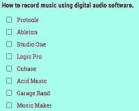 How to record music using digital audio software.