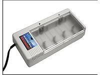 Uniross Universal 120 Battery Charger Ni-MH / Ni-Cd AAA/AA/ C/ D + Uniross x press 150
