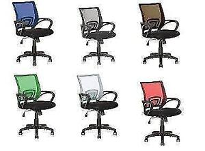 Corliving Mesh Square Mid Back Office Chair, Various Color Avail