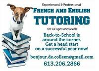 French and English Tutoring in Perth Almonte and Carleton Place