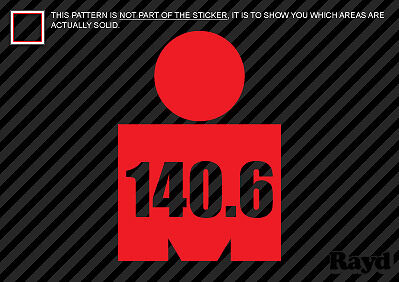 - (2x) Ironman Shaped 140.6 Sticker Die Cut Decal Self Adhesive Vinyl triathlon