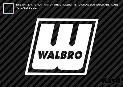 "(2x) Walbro Decal Sticker Die Cut (6"" wide)"