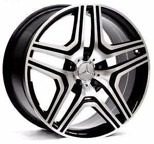"22"" mercedes ml gl wheels 5 112 wheels rims black or grey Waterford Logan Area Preview"