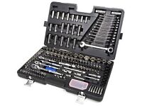 Halfords brand new 200 piece socket and ratchet spanner set