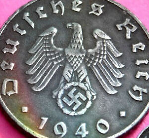 Rare-Old-Antique-Vintage-Hitler-German-WWII-Nazi-Army-3rd-Reich-Collectible-Coin