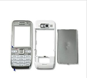 White Full Housing Cover Case Faceplate For Nokia E52+Keypad