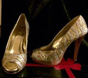 Gold/silver sequin high heels Largs North Port Adelaide Area Preview
