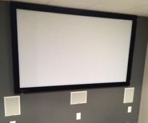 92 inch fixed screen (wall mount for a home theatre)