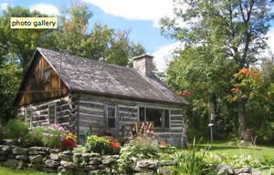 Log cabin foothills of Quebec Adirondacks