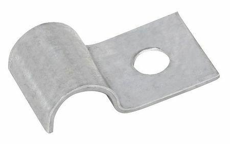 Zoro Select Ch0307z1 Half Clamp,Galvanized,Dia 3/16 In,Pk50