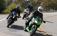 Sportbikes, standards and naked motorcycle riders
