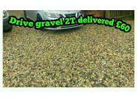 Drive gravel top soil grit sand hardcore planings scalpings sharp river stone pebbles