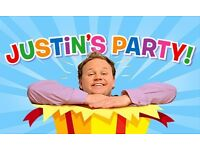 4 tickets for sale - Justin's party in Cardiff, Friday, 10th March 2017