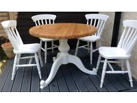 Fantastic pine shabby chic table& chairs