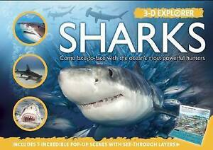 3-D Explorer: Sharks by Bright, Michael -Hcover