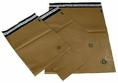 Biodegradable Poly Bag Mailer 100 1 7.5x10.5 Brown Unlined Self Seal Envelope