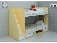 Double bunk beds with mattresses - excellent condition with instructions