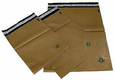 Biodegradable Poly Bag Mailer 25 1 7.5x10.5 Brown Unlined Self Seal Envelope