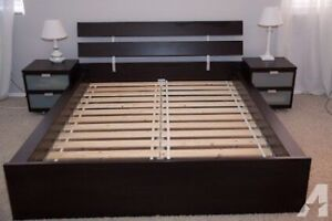 Ikea hopen bed and night stand, free mattress