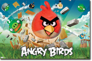 ANGRY-BIRDS-Poster-Full-Size-Print-Destroy-The-Pigs