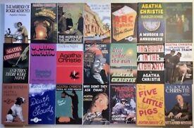 Used Agatha Christie Book Collection. 84 hardbacks & facsimiles of original jacket art, & magazines.