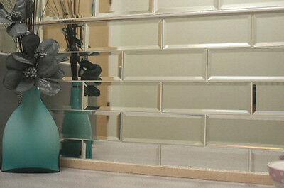 Mirror tiles are a great creative solution. Image: wallsandfloors.co.uk