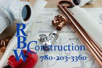 Plumbing Services - Basement Rough ins - New Installs - Repairs
