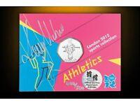 Dame Kelly Holmes signed Athletics 50p