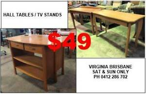HALL TABLES / TV STANDS