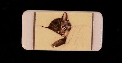LITTLE CHESSIE CAT PIN - VINTAGE POSTCARD DESIGN - ADORABLE