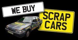 WANTED SCRAP CARS/ MOT FAILURES/ CRASH DAMAGED VEHICLES / NON RUNNERS