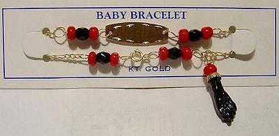 14k Gold 'azabache' Boy Or Girl Baby Bracelet-free Ship