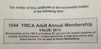 YMCA adult one year membership