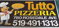 Tutto pizzeria from the grandson of riverside pizzeria