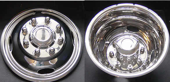 4 Ford F350 17 Dually Stainless Steel Wheel Simulators Dual Rim Liners Dot