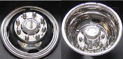 2017 Ford F350 17 Dually Wheel Simulators Hubcaps Liners Stainless 2wd Or 4wd